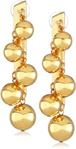 "Ben-Amun Jewelry ""Gold Ball Collection"" Gold Ball Linear Earrings"