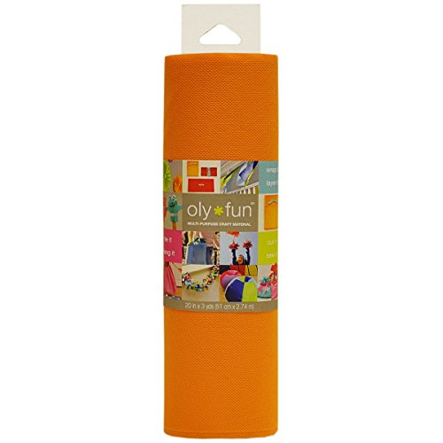 Fairfield Oly Fun Multi-Purpose 20-Inch Craft Material 3-Yard Orange Crush by Fairfield