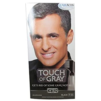 Amazon.com : Just For Men Touch Of Gray Hair Color, Black Gray (6 ...