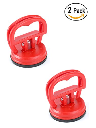 Igoolee 2 Pcs Heavy Duty Suction Cup, LCD Screen Opening Tool For Computer, Cell Phone and Tablet PC ( Red )