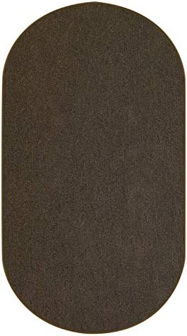 11 x16 Oval – Hickory – Indoor Outdoor Area Rug Carpet, Runners Stair Treads with a Premium Nylon Fabric Finished Edges