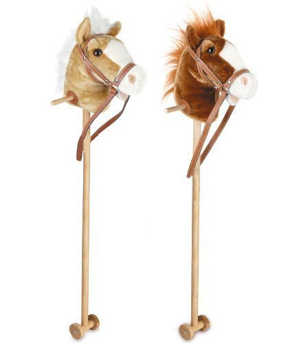 Toyrific 100cm Kids Neighing & Galloping Hobby Stick Horse Toy with Sound Wheels (Assorted Colours) EAN: 5031470054496 by Wilton Bradley TRTAZ11A