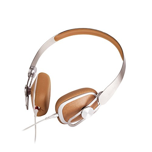 Moshi Avanti On-Ear Headphones, 3.5mm Headphone Jack, Lightweight, High-Resolution, Detachable Cable with [Carrying Case Included], Caramel Beige