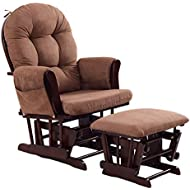 Delicieux Costzon Baby Glider And Ottoman Cushion Set, Wood Baby Rocker Nursery  Furniture, Upholstered Comfort