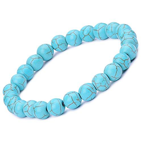 [Infinite U Women's Men's Buddha Bracelet 9mm Beads Wrist Mala Stretch Energy Bracelet, Therapy Yoga Meditation,] (Cheap Disciple Costumes)
