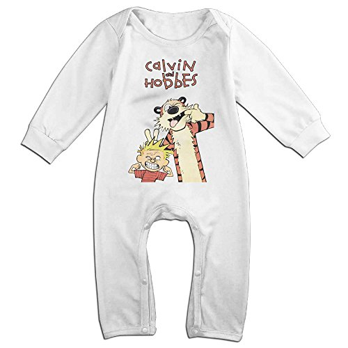 Hobbes Costumes (ROBERT Baby Infant Romper Calvin And Hobbes 587 Long Sleeve Jumpsuit Costume 24 Months)