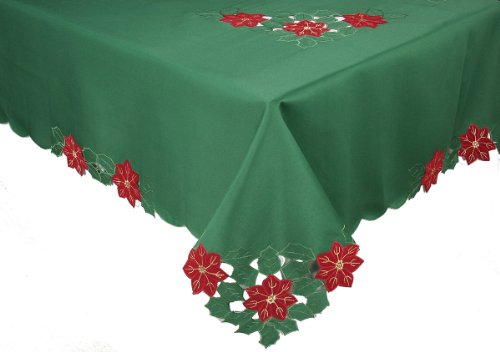Xia Home Fashions Merry Cutwork Holiday Embroidered Cutwo...