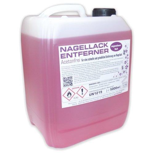 5 Liter Nagellackentferner mit Orangenduft - Polish-Remover 5000ml ACETONFREI im Kanister