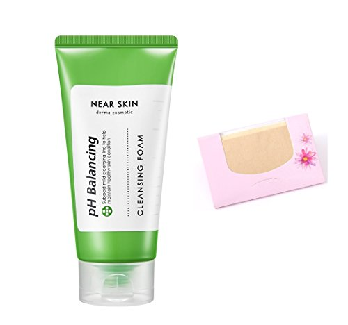 [Missha] Near Skin pH Balancing Cleansing Foam 150ml + SoltreeBundle Oil blotting Paper - Near Vs Outlet Me