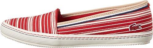 Lacoste Women's Orane 6 Red/Off White Sneaker 6.5 M