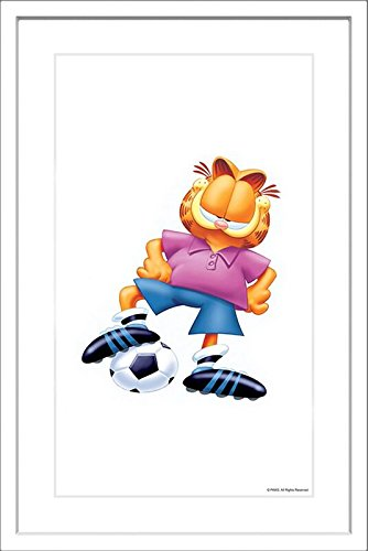 Marmont Hill Garfield 'Soccer Player' Framed Print, 24'' X 36'' by Marmont Hill