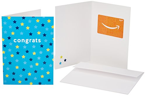 Amazon.com Gift Card in a Greeting Card (Congrats Stars Design) ()