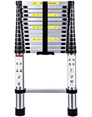 Telescopic Extension Ladder, Multi Purpose Home Portable Aluminum Folding Ladder EN131 Certified