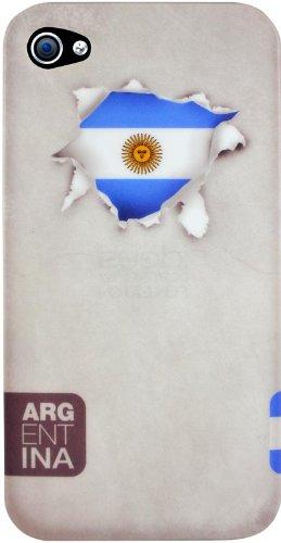 Ideus DRAPEAUX-Argentina-Coque de caoutchouc pour Apple iPhone 4 et Apple iPhone 4S