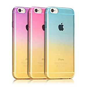ZXC Gradient Ultra Thin Style Soft Flexible TPU Cover for iPhone 6 4.7Inch(Assorted Colors) , Light Blue