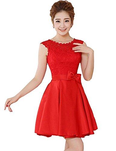 DL0034 Rot mit Mini 2 Trägern Great Kleid Damen Cocktailkleid Bright ZUPUwzq8
