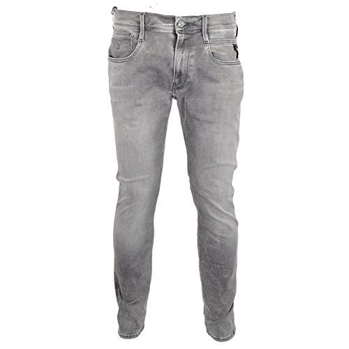 Replay Grey Anbass Slim Fit Stretch 'Hyperflex' Jean / Denim Pants - M914 661-07B 32/32