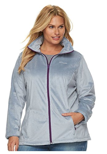 (Columbia Women's Blustery Summit Full Zip - Plus Tradewinds Grey 1X)