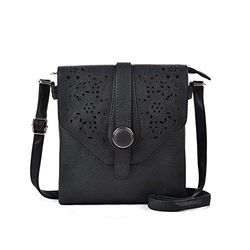 Noir Noir Femme Bandoulière GLITZALL Petit d'épaule Messenger mode la Portable Sac à Téléphone Sac Pochette On6WrOT
