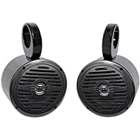 Pair Rockville MS525B 5.25 400 Watt Marine Boat Wakeboard Tower Speakers-Black