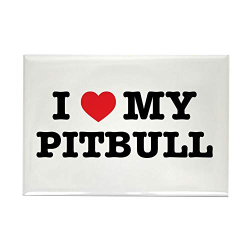 CafePress I Heart My Pitbull Magnets Rectangle Magnet, 2