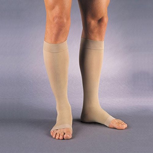 Jobst Supportwear Knee High Socks - Jobst Relief KNEE HIGH Extra Firm Compression 30-40mmHg M, Open Toe Beige