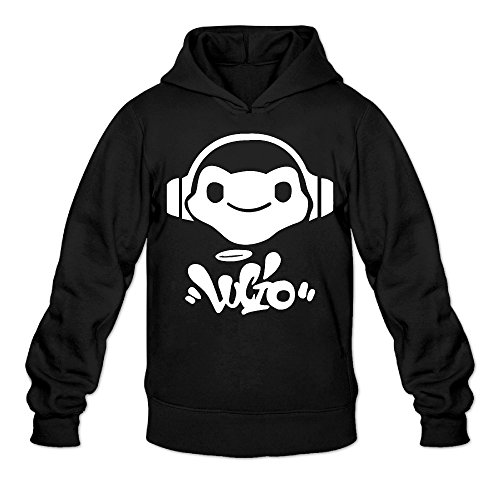 Overwatch Men's Lucio Logo Hoodies Sweater Size M Black