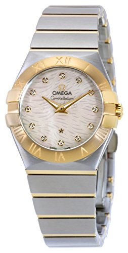 Omega Women's 'Constellation' Swiss Quartz Stainless Steel Dress Watch, Color:Two Tone (Model: 12320276055008)