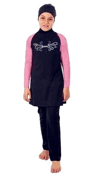 2dcf0db05953f KXCFCYS Muslim Swimwear for Kid Girls Children Modest Islamic Hijab  Swimsuits Burkini (Int l