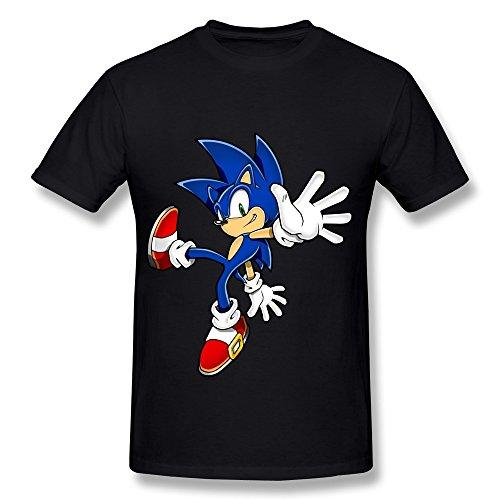 Sihan Sonic The Hedgehog Men's Cool Tshirt Size S Black