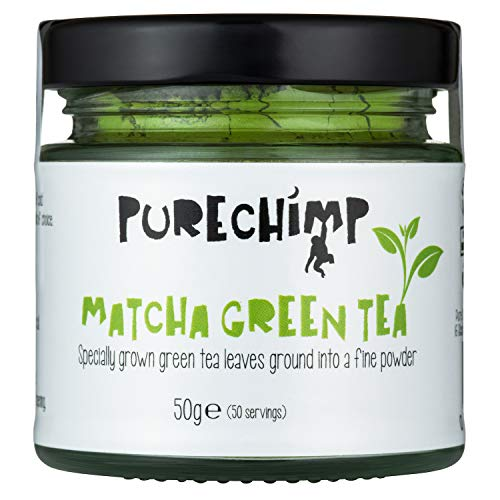 Matcha Green Tea Powder 50g (1.75oz) by PureChimp - Ceremonial Grade Matcha Green Tea Powder From Japan - Pesticide-Free - Recyclable Glass + Aluminium Lid (Regular) (Best Way To Make Matcha Tea)