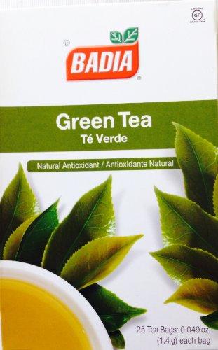 Badia Green Tea Natural Antioxidant Te Verde 50 Bags 2 Pack (25 Verde Green)
