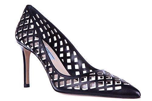 Prada escarpins chaussures femme à talon en cuir noir