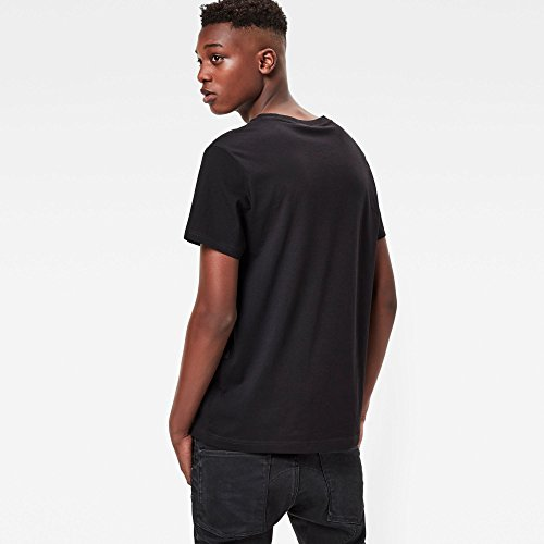 G-STAR RAW Mattow R T S/S, Camiseta para Hombre negro