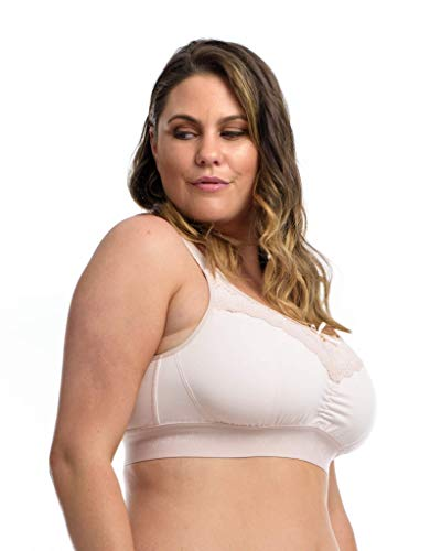 The Lounge Bra : Women's Full Bust Wire-Free Bra. Delicate Blush. 30L-M (USA)