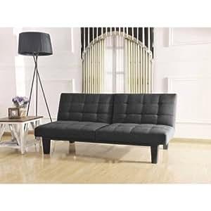 Tweed Memory BC-281 Foam Futon, Split Seat & Back, Wooden Frame, Gray Color