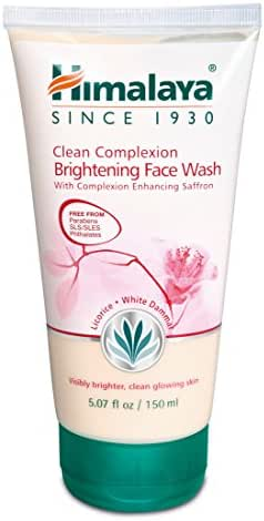 Himalaya Clean Complexion Brightening Face Wash for Bright Clean Skin, Free from Parabens, SLS, Phthalates 5.07oz/150ml