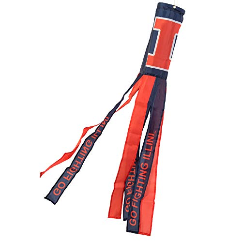 College Flags and Banners Co. Illinois Fighting Illini Windsock