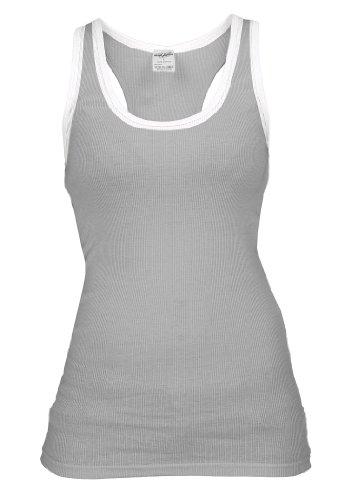 Urban Classics Ladies Contrast Tanktop, grey/white, Größe L