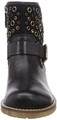 Geox D NEW VIRNA B - botas de cuero mujer negro - negro