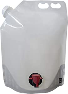 1 Gallon (4 Liter) To-Go Pouch (2 pack) - Easy to Fill, Carry & Pour your Favorite Beverages or Condiments Anywhere you Go! Great for Restaurant Take Out!!