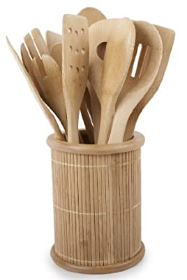 Core Bamboo Classic 14-Piece Kitchen Utensil Set, Natural by Core Bamboo
