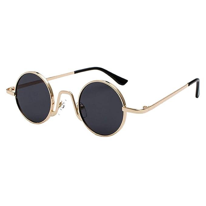 qiansu Vintage Red Lens Gafas de sol redondas pequeñas ...