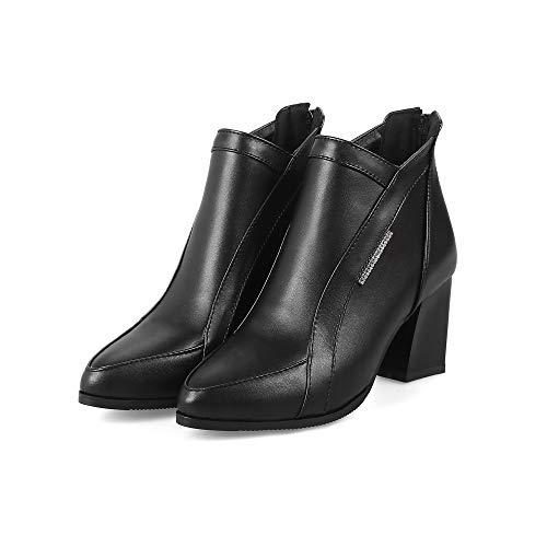 0bc31f6a94b ... Xqy Solo De E Mujer Bajo botas Salvajes Botines Puntiagudos Otoño Tubo  43 Cómodas Invierno zapatos ...