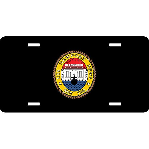 (Navy Submarine SSN 750 USS Newport New Customized Novelty Front License Plate Cover Decorative US Navy Car Tag Sign for US Vehicles 12 x 6 Inch Aluminum Metal)