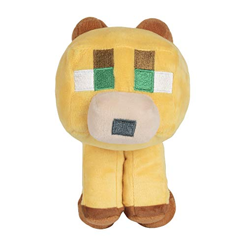 JINX Minecraft Happy Explorer Baby Ocelot Plush Stuffed Toy, Multi-Colored, 5.5