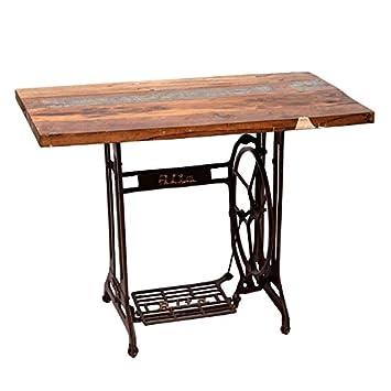 Mesa de comedor 105x210 en metal y madera: Amazon.de: Küche & Haushalt