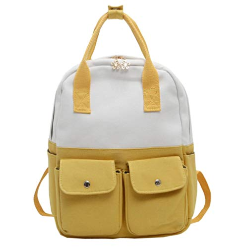 Clearance Students Backpack Rakkiss Neutral Students Nylon Hit Color Shoulder Bag School Bag Tote ()