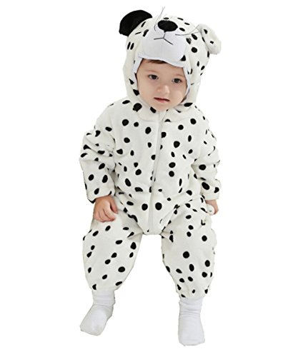 JOYHY Unisex Baby Infant Fluffy Rompers Cute Animal Costume Outfits Dalmatian (Dalmatian Halloween Costume For Baby)
