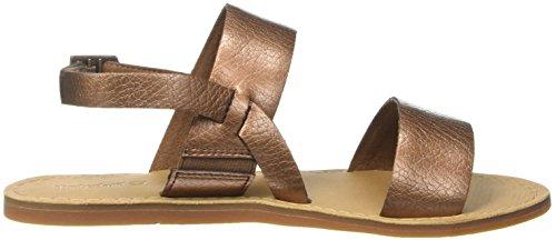 Timberland Carolista Slingbackcopper Metallic, Sandalias con Cuña para Mujer Marrón (Copper Metallic)